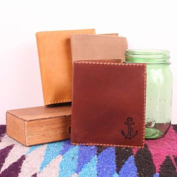 Leather Anchor Wallet *Free customization!*