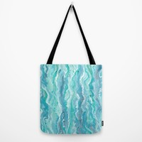 Ocean Melt Tote Bag by Lisa Argyropoulos