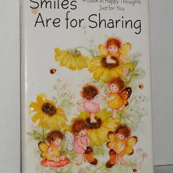 Vintage Hallmark Book Baby Butterfly Caterpillars Smiles Are For Sharing 1975
