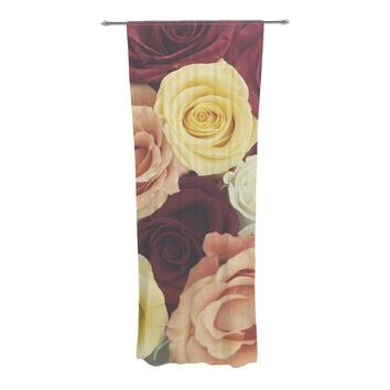 "Libertad Leal ""Vintage Roses"" Decorative Sheer Curtains"