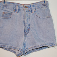 High Waisted London Jean Shorts (Small/Indie Brands)
