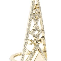House of Harlow 1960 Jewelry Tres Tri Finger Ring