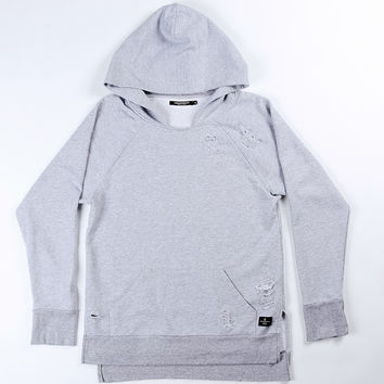 Threadworkshop - Side Slit Hoodie - Distressed French Grey