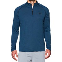 Under Armour Tech Quarter Zip for Men in Petrol Blue Twist 1242220-437
