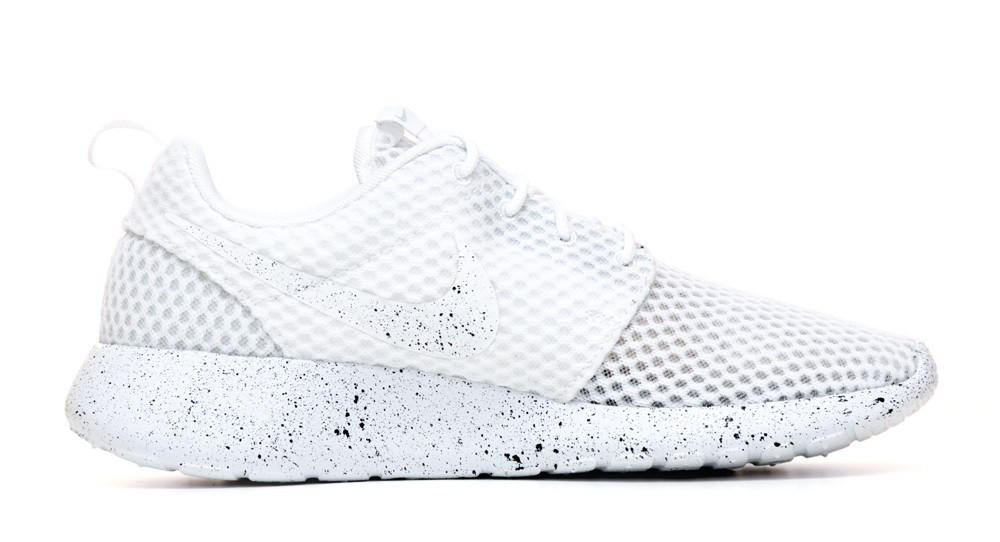 35a17361aa1b Nike Roshe One Customized by Glitter Kicks - White   Black Paint Speckle