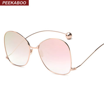 Peekaboo new purple yellow tinted sunglasses fashion vintage female designer sunglasses women 2016 high quality thin metal