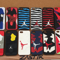 Nike Air Jordan Iphone 5 5S Phone Case Cover Protector Shield Shoe Mobile Accessories Sole Rubber Silicone Sneaker Gift Black White Red