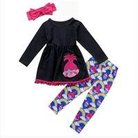 3PC Girls Trolls Boutique Outfit
