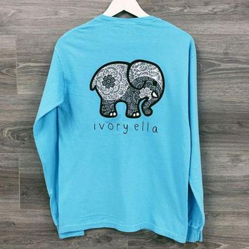 MDIGON1O Day First Womens Elephant Long Sleeve T Shirt Top