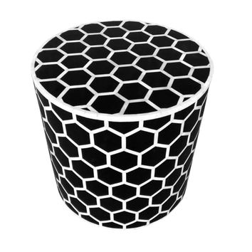 Honeycomb Bone Inlay Round Side Table