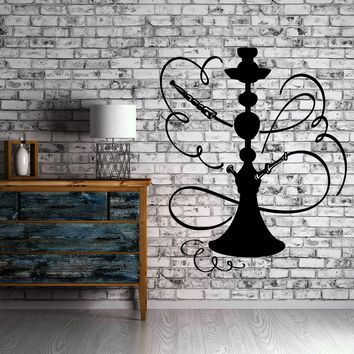 Hookah Wall Stickers Smoking Eastern Culture Shisha Vinyl Decal Unique Gift (ig2401)