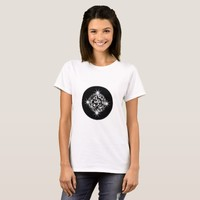 Black And White Blinking Magic Mosaic Star T-Shirt