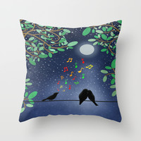 Moonlight Serenade Throw Pillow by Tjc555
