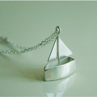 Little Toy Boat Necklace by yellowgoat on Etsy