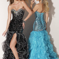 Gorgeous Sequin Gown with Ruffle Skirt Style ML-91016,Vintage Prom Dresses