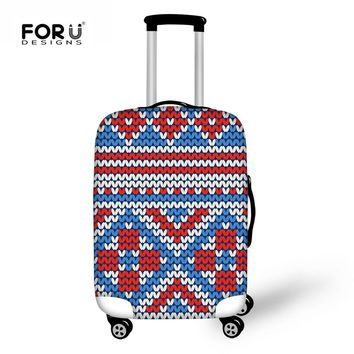 FORUDESIGNS Vintage Elastic Luggage Protect Cover Apply to 18-30 Inch Trolley Suitcase Cover Thick Luggage Accessories Supplies
