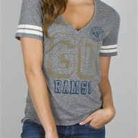 Women's NFL St Louis Rams Tee T-Shirt by Junk Food