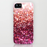 sunset glitter iPhone Case by Island Art