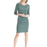 Long-Sleeve Side Drape Dress | Banana Republic