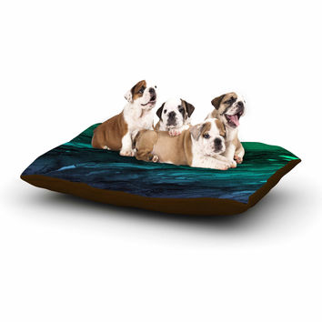 "Ebi Emporium ""Agate Magic - Green Plum Ombre"" Aqua Purple Dog Bed"
