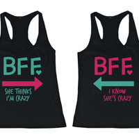 Cute MINT & PINK Best Friend Tank Tops - Matching BFF Tanks