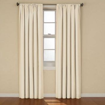 """Eclipse Curtains Kendall Blackout Energy-Efficient Curtain Panel,42"""" x 84"""",Ivory"""