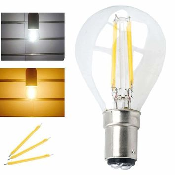 LED G45 Filament Light Bulb 4W B15 Base 220V LED Globe Ball Lamp Replace Vintage Chandelier Ceiling Fan Halogen Bulb