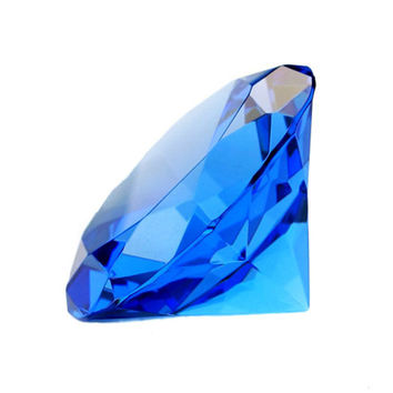 Blue Rainbows Quartz Crystal Glass Diamond Paperweight Feng Shui Confetti Wedding Bridal Party Vase Decor Crafts souvenirs