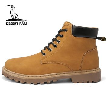 DESERT RAM Brand Mens Boots Timber Westar Shoes Kanye Tamberlinrd Yellow Shoe Male Timberly Martins Men Winter Cowboy Ankle Boot