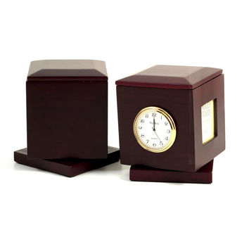 """Nursing"", Rosewood Rotating Pen Box"