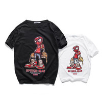 Summer Cotton Cartoons Print Spider T-shirts [7929508035]