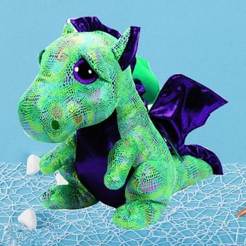 TY Beanie Boos Cinder The Green Dragon Unicorn Unicornio Plush Stuffed Animal Collectible Soft Doll Toys For Children