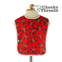 Red Roses Baby Bib Sweet Roses Infant Bib Chemical Free inks for child safety