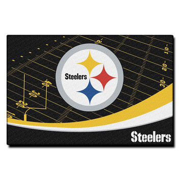 Pittsburgh Steelers NFL Tufted Rug (59x39)