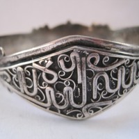 Vintage Algerian Silver Bracelet from French Colonial Times