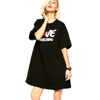 Black Love Moshino Sweater Dress