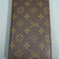 Tagre™ One-nice™ Authentic Louis Vuitton Womens Purse Brown Canvas Long Zippy Wallet