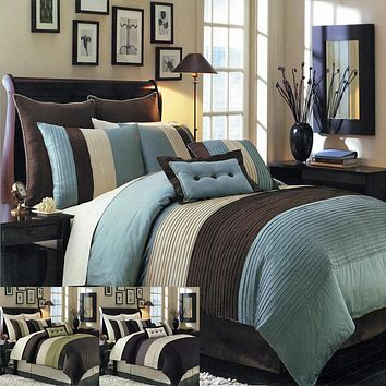 BLUE Hudson Luxury Comforter Set