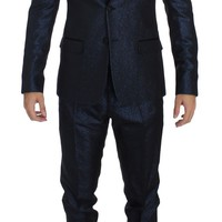 Blue 3 Piece Slim Fit Suit Tuxedo Smoking