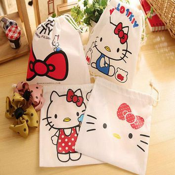 Cartoon Hello Kitty Waterproof Travel Cosmetic Makeup Bag Pouch Toiletry Storage Organizer For Women Men Wash Case