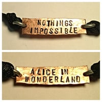Nothings impossible Alice in wonderland two sided by Nerdiecouture