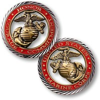 US Marines Core Values Coin
