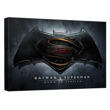 Batman V Superman - Movie Logo Canvas Wall Art With Back Board
