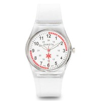 Nurses Medical Scrub Watch Easy Clean Clear Band Pulse Dakota 27350