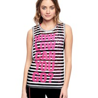 Stripe Mesh Graphic Tee by Juicy Couture