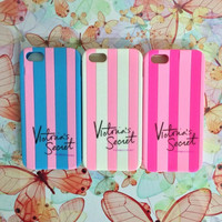 Victoria's Secret PINK Luxe Soft Rubber Stripe Case Cover