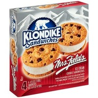 Walmart: Klondike Sandwiches Mrs. Fields Ice Cream Cookie Sandwiches, 4 fl oz, 4 count
