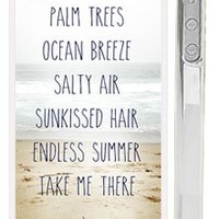 "Trendy Summer Beach Life iPhone 4s Case - Quote: ""Palm Trees, Ocean Breeze, Salty Air, Sunkissed Air, Endless Summer Take Me There"""