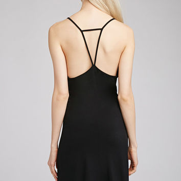 Strappy-Back Knit Dress