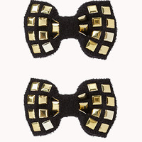 Studded Bow Hair Clips | FOREVER 21 - 1055547578